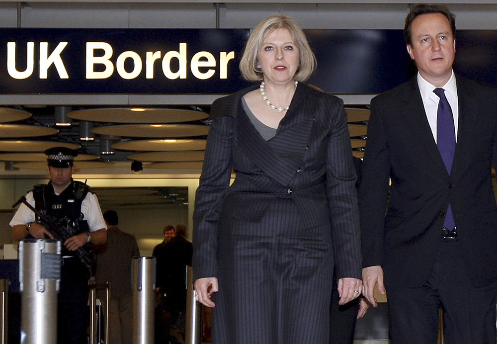On Eve Of British Pm Camerons Visit >> Britain S Prime Minister David Cameron And Home Secretary Theresa