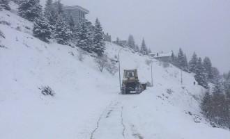 Расчистени улиците во Тетово, проодно и кон селата
