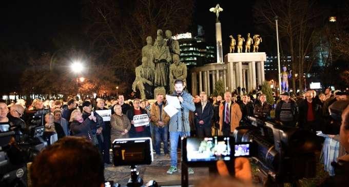 Заврши протестот пред Влада, учесниците порачаа дека е време за Четвртиот Илинден