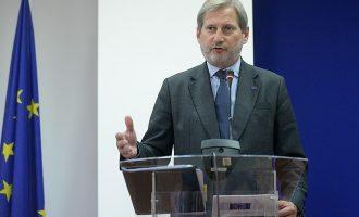 Еврокомесарот Хан во четврток во Македонија
