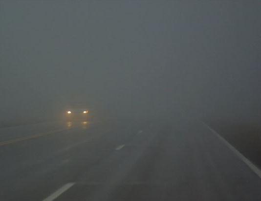 Поради магла  намалена видливост кај граничниот премин Делчево