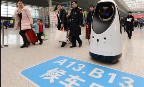 Во Кина робот започна да патролира на железничка станица