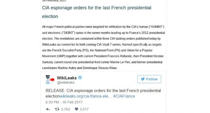 Викиликс: ЦИА ги шпионирала претседателските избори во Франција
