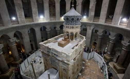 За јавноста се отвора обновениот гроб на Исус