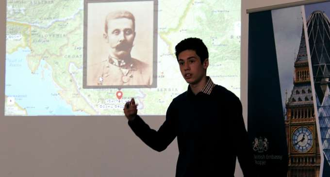 Првата светска војна претставена од страна на македонски средношколци