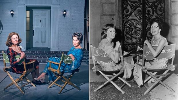 Сарандон и Ланг во серијата за Џоан Крафорд и Бет Дејвис