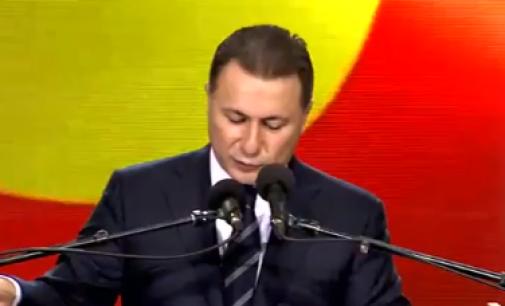 Груевски: Македонија нема да биде предводена од влада која е составена во Албанија