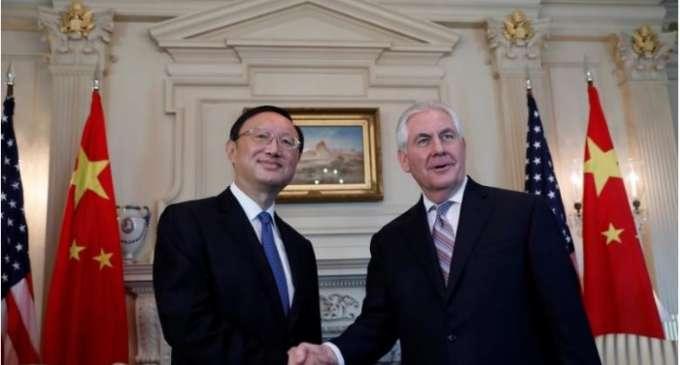 Средба на шефовите на дипломатиите на САД и Кина