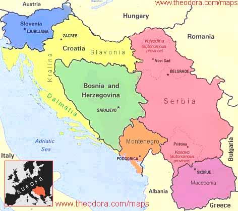 Granice Srbije i Kosova kroz vrijeme Jugoslavija-nova-mapa