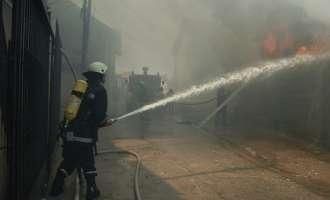 Изгоре градинката во Шуто Оризари