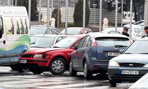 Во Скопје се случиле 18 сообраќајки, 13 полесно повредени