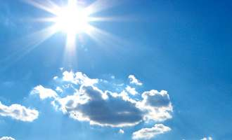 Сончево со слаб до умерен северозападен ветер