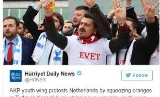 Реакции во Турција: Холандија не чини ниту колку кората на портокалите