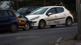 Сообраќајка на булевар Словенечка