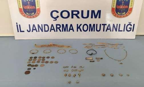 Околу 50 историски златни артефакти се пронајдени при операција против шверцери во северна Турција