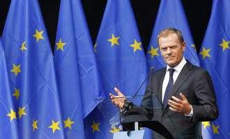 Туск во Скопје на средба со претседателот Иванов