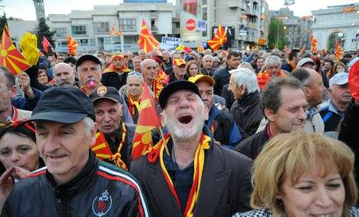 """Повторно протест на """"За заедничка Македонија"""" – повторени барањата за нови избори"""