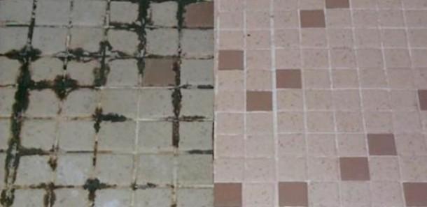 Начин за брзо и лесно чистење на фугите меѓу плочките