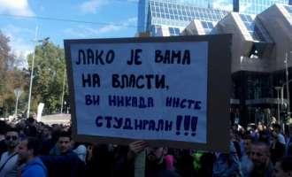 """Нови протести во Србија, Вучиќ порача дека сака да разговара """"но не знае со кого"""""""