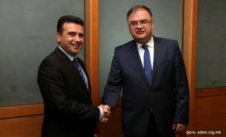 Заев на средбата со Иваниќ: Демократските процеси ќе продолжат, институциите да одговорат на уставните должности