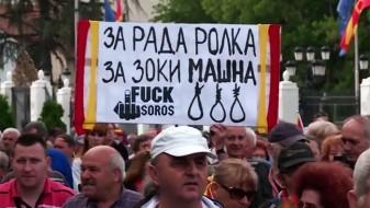 """Бесилки за Заев и Шеќеринска на денешниот протест """"За заедничка Македонија"""""""