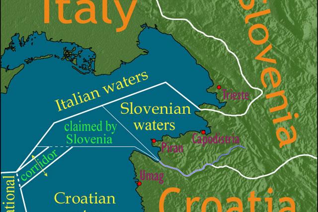 """Словенија и Хрватска покажуваат""""мускули"""" околу границата"""