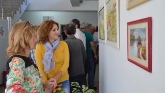 Изложба на дела на уметниците од Општина Илинден