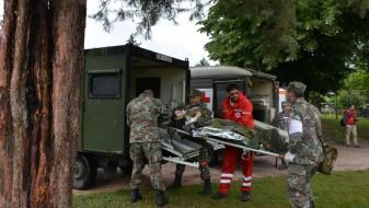 Заедничка показна  вежба на АРМ и Црвениот крст на Република Македонија