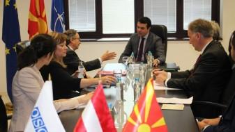 Попоски се сретна со Специјалниот претставник на Претседавачот со ОБСЕ, амбасадорот Штрохал