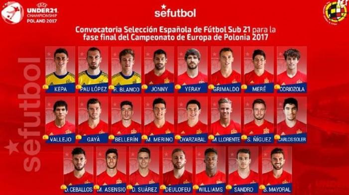 Моќен тим на Шпанија У 21 ќе ѝ се спротивстави на Македонија