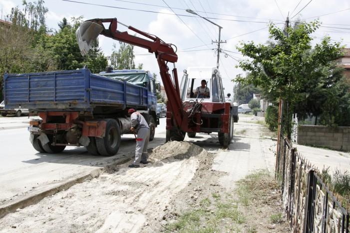 Изградба на нови тротоари и пешачки патеки во Прилеп