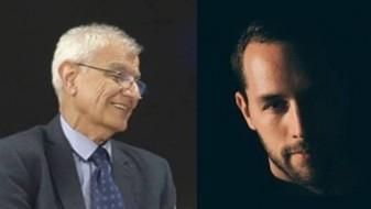 Писателите Васил Тоциновски и Стефан Марковски на книжевна средба во Хрватска