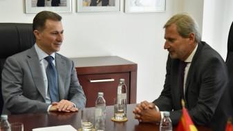(ВИДЕО) Средба Груевски-Хан: ВМРО-ДПМНЕ сака да ја види државата што поскоро како членка на ЕУ и НАТО
