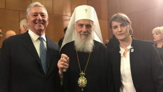 Српскиот патријарх позираше со идната премиерка
