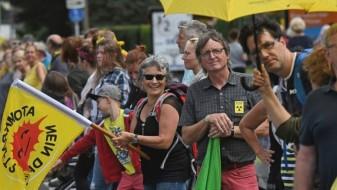 Демонстрации против нуклеарни централи