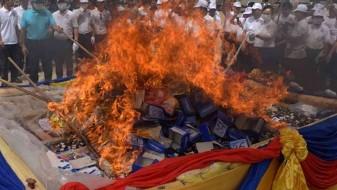 Во Мјанмар и Тајланд запалена дрога од речиси милијарда долари