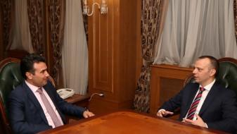 Премиерот Заев се сретна со претседателот на Адриа медиа груп