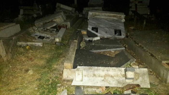 МВР ги бара насилниците коишто ги оштетија гробиштата во Љуботен