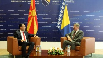 Заев на средба со Звиздиќ и други претставници на властите во БиХ
