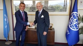 Министерот за дијаспора, Едмонд Адеми, се сретна со генералниот директор на ИОМ