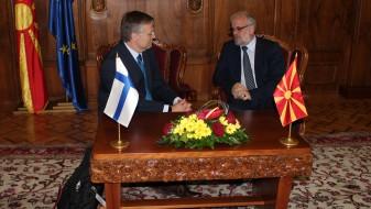 Интензивирање на билатералната соработка со Финска