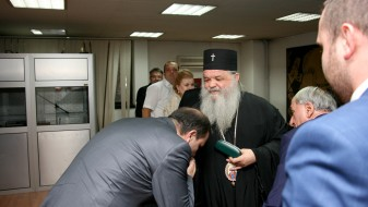 Спасовски на средба со лидерите на верските заедници