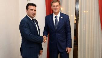 Заев-Церар: Македонија ја има поддршката од Словенија
