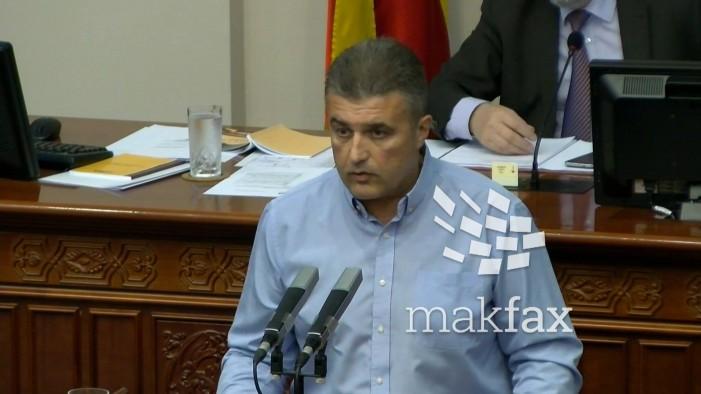 Тунтев: Пратениците од СДСМ нема да учествуваат во бесмислената расправа за разрешување на Зврлевски