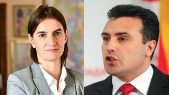 Српската премиерка Брнабиќ го покани Заев да одржат заедничка владина седница