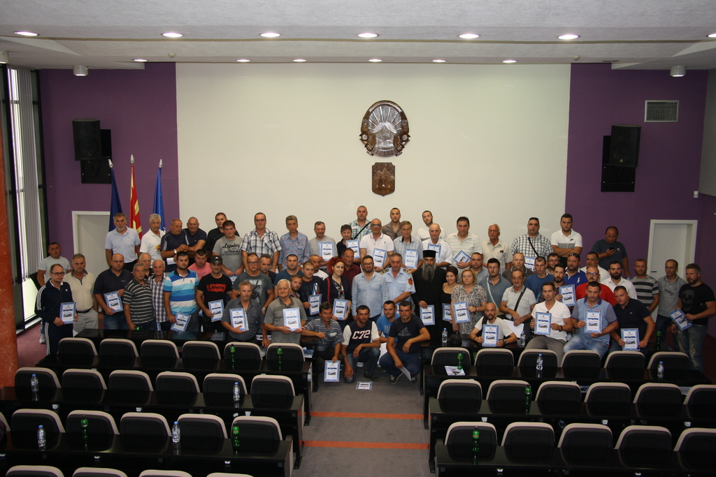 Благодарници за учесниците во гаснењето на пожарот кај Трескавец