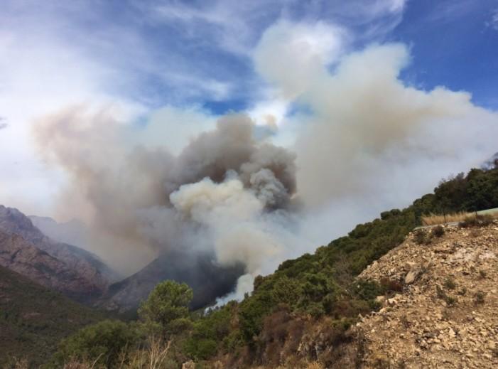 Пожар на Корзика, евакуирани се стотици туристи