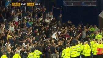 """Навивачите на Хајдук накратко го прекинаа мечот на """"Гудисон"""""""