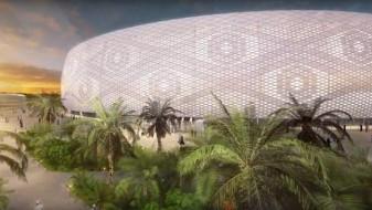 (Видео) Катарците градат стадион во облик на капа