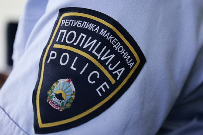 Увид на местото каде двајца малолетници беа повредени со службен полициски пиштол
